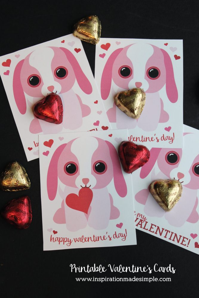 Printable Puppy Valentine\u0027s Day Cards - Inspiration Made Simple