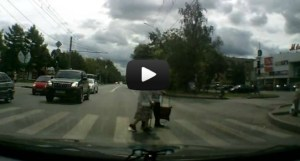 Watch kindness from a dash cam