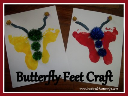 Butterfly Feet Craft