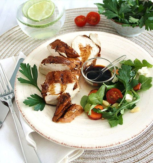 Balsamic poached chicken_2
