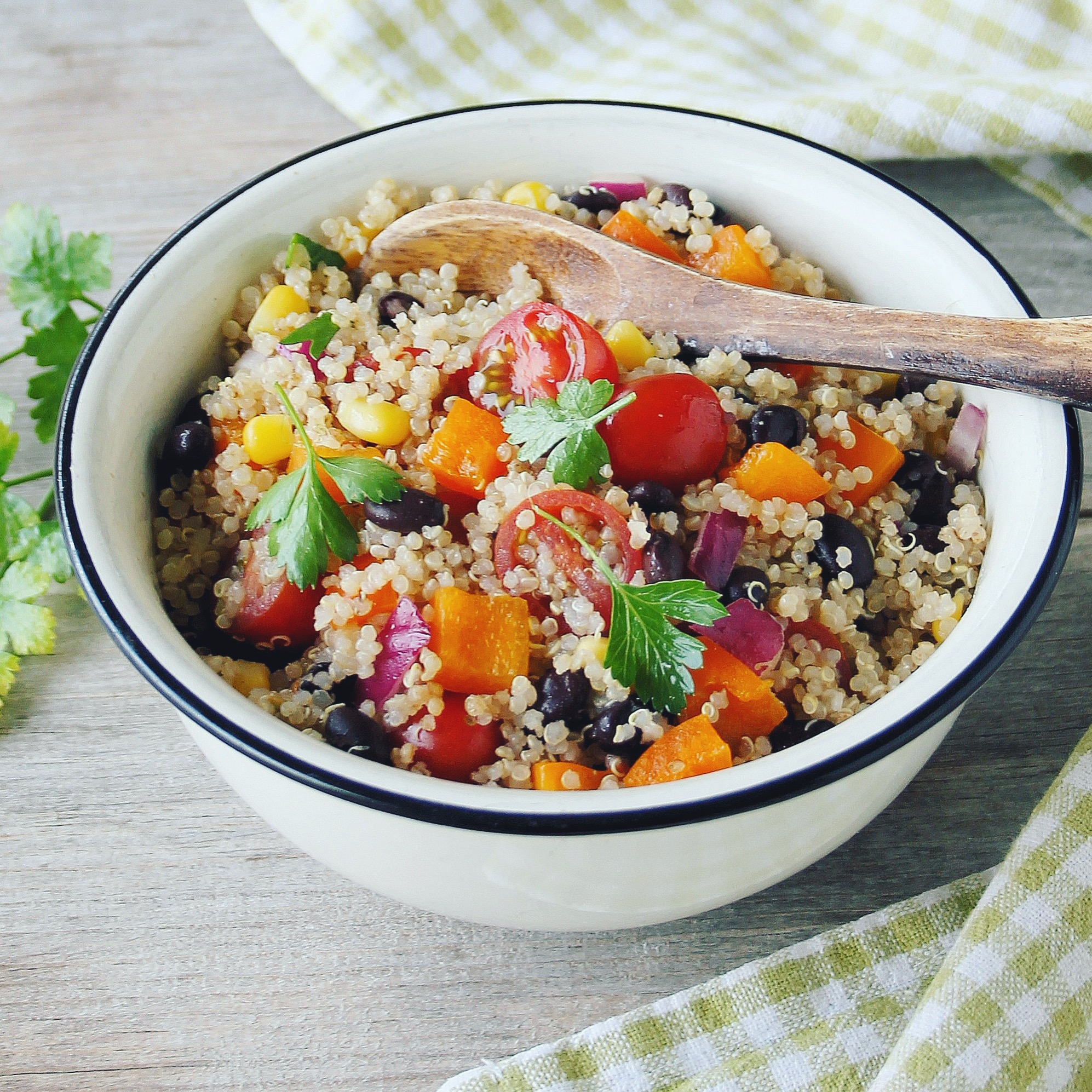 Southwestern Quinoa Salad with Honey-Lime Vinaigrette