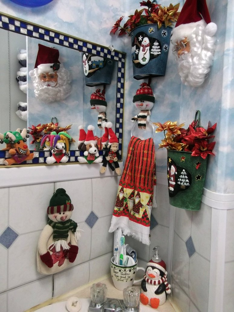 Bathroom christmas decoration ideas