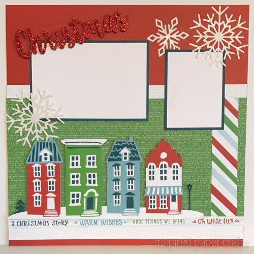 City Sidewalks Christmas Layout - Inspired Paper CraftsInspired