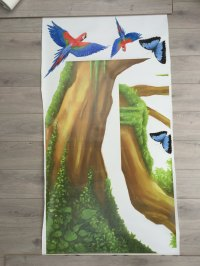 JUNGLE WALL DECALS WITH LARGE TREE | WALL STICKERS