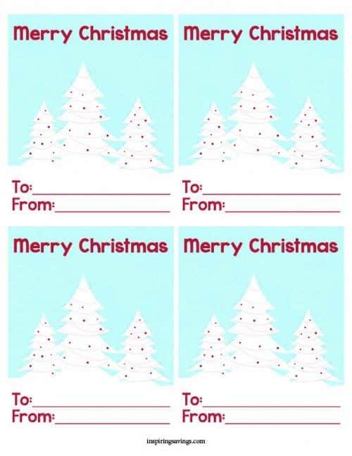 Free Merry Christmas Mini Printable Cards - Holiday Favorite