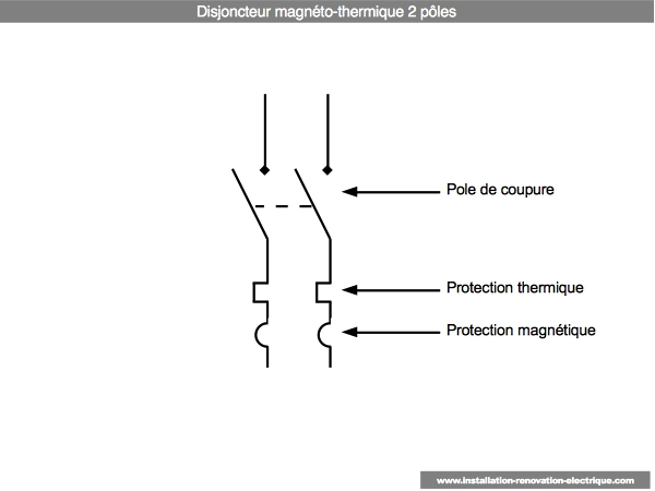 2 pole breaker schema cablage