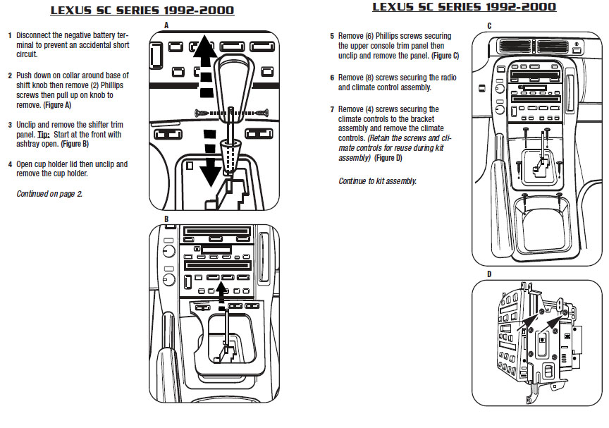 1993 Lexus Sc300 Installation Parts, harness, wires, kits, bluetooth