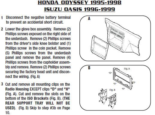 1999 Isuzu Oasis Installation Parts, harness, wires, kits, bluetooth
