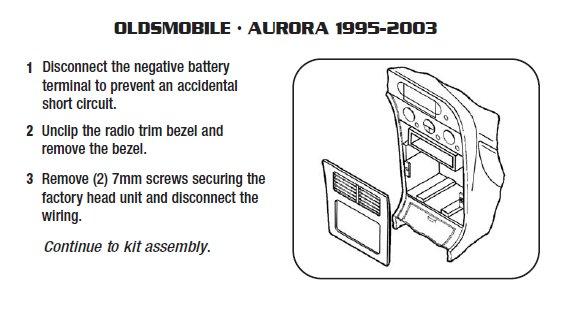 1999 Oldsmobile Aurora Installation Parts, harness, wires, kits