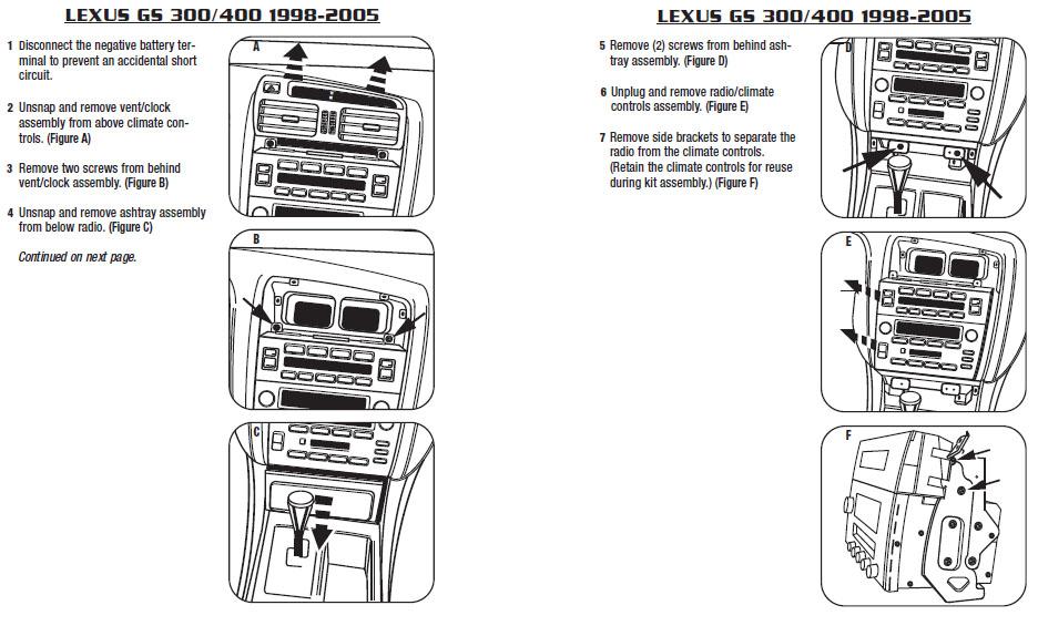 2001 Lexus Gs300 Installation Parts, harness, wires, kits, bluetooth