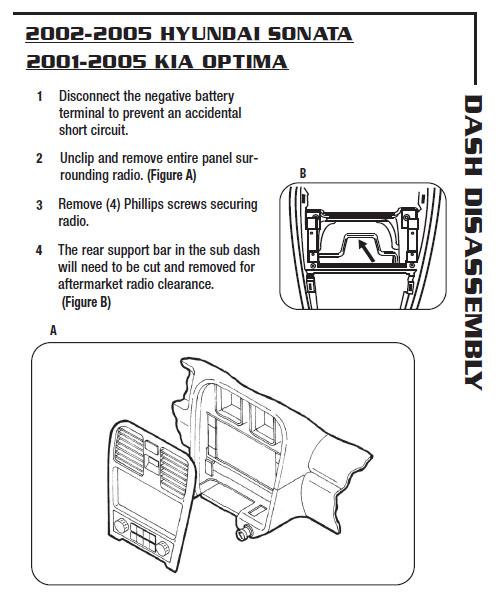 2002 Kia Optima Installation Parts, harness, wires, kits, bluetooth