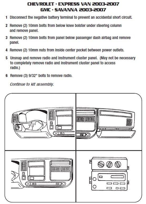 2003 Gmc Savana Installation Parts, harness, wires, kits, bluetooth