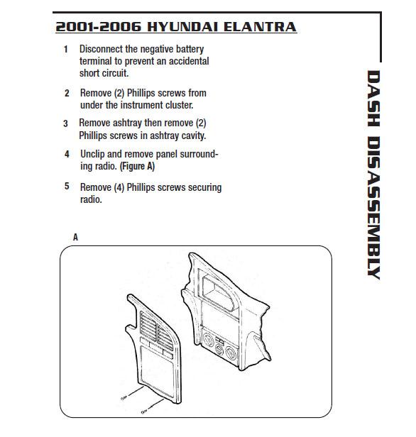 2003 Hyundai Elantra Installation Parts, harness, wires, kits