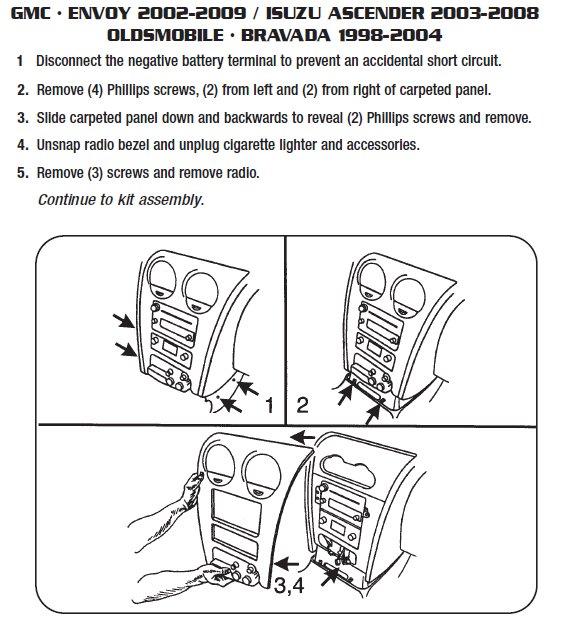 2003 Isuzu Ascender Installation Parts, harness, wires, kits