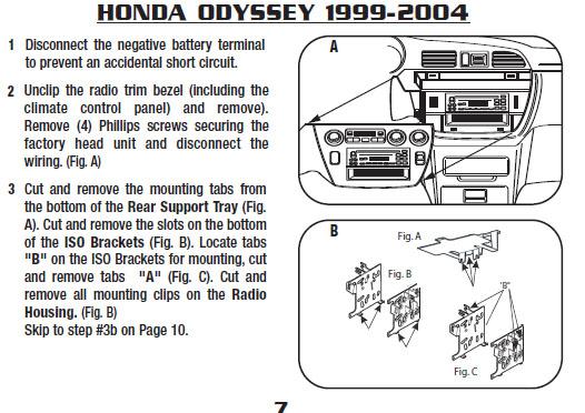 2004 Honda Odyssey Installation Parts, harness, wires, kits