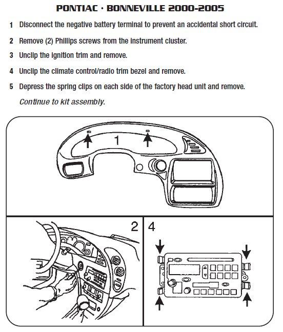 2005 Pontiac Bonneville Installation Parts, harness, wires, kits