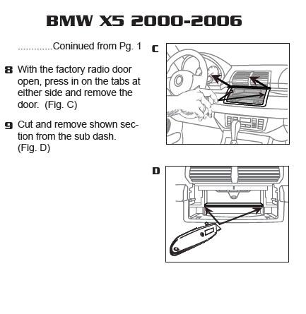 2006 Bmw X5 Installation Parts, harness, wires, kits, bluetooth