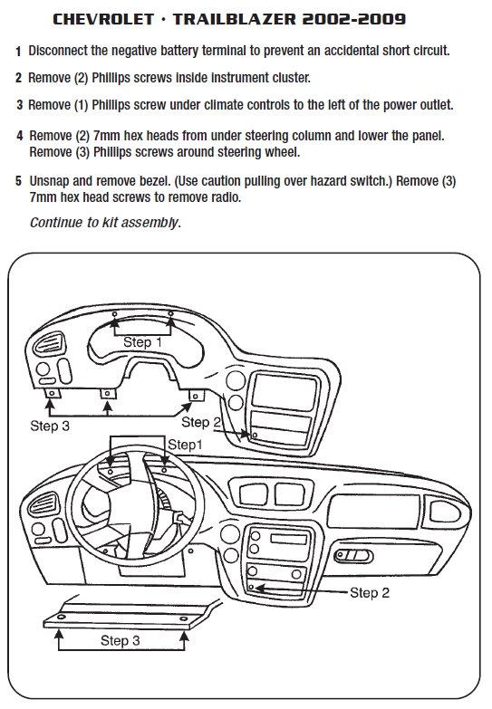 2006 Chevrolet Trailblazer Installation Parts, harness, wires, kits