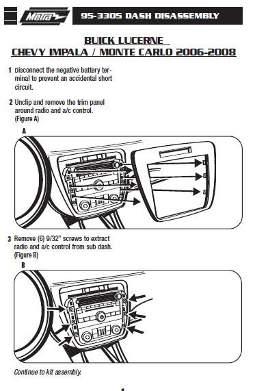 2007 Chevrolet Impala Installation Parts, harness, wires, kits