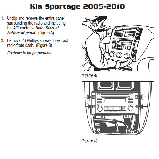 2007 Kia Sportage Installation Parts, harness, wires, kits
