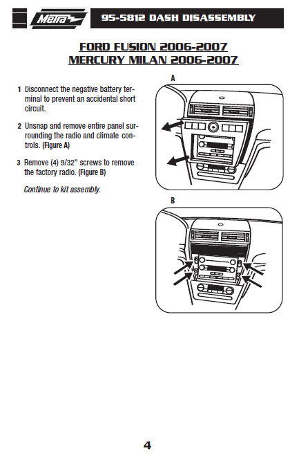 2007 Mercury Milan Installation Parts, harness, wires, kits