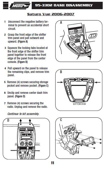 2007 Saturn Vue Installation Parts, harness, wires, kits, bluetooth