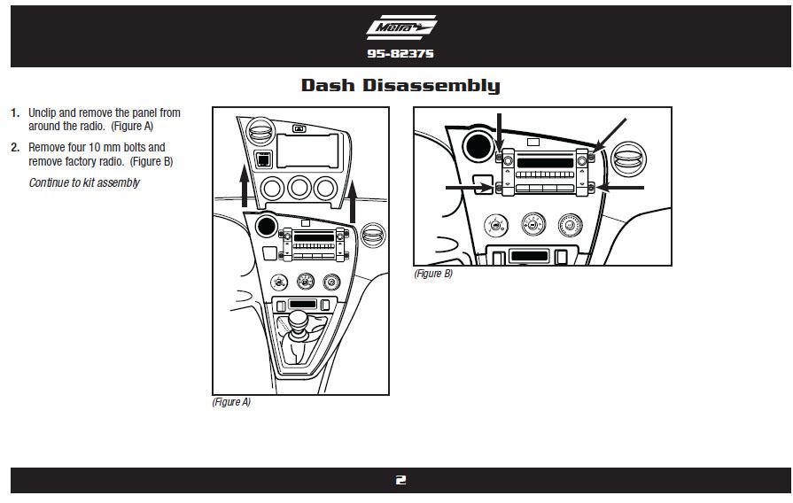 2011 Toyota Matrix Installation Parts, harness, wires, kits