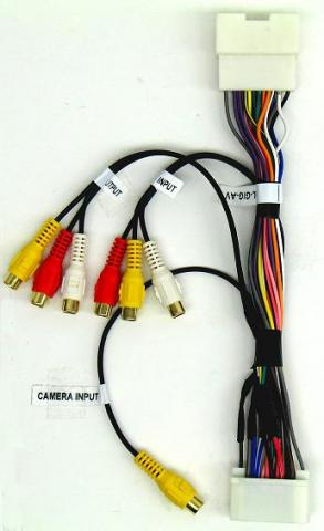 Plug N Play harness for A V and backup camera Input as well as a