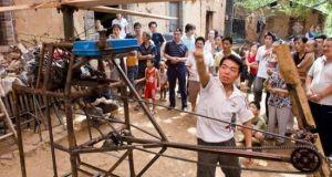 Chinese farmer's DIY chopper