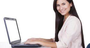 Smiling successful businesswoman