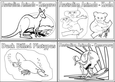 Australia Coloring Pages SaveEnlarge