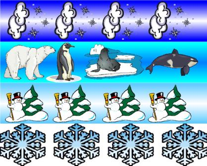 Winter Teaching Resources, Symmetry, page borders, printables