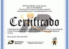 certificado Instituto Denver