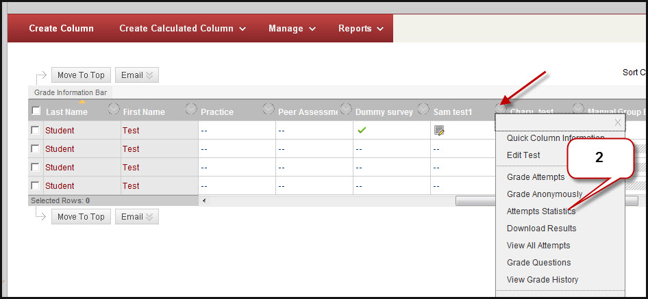 Instruction @ UH How to View Survey Statistics in Blackboard Learn