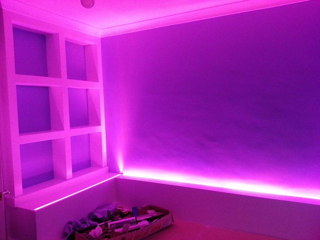 3d Effect Wallpaper For Living Room Rgb Tape Used For Bedroom Led Lights