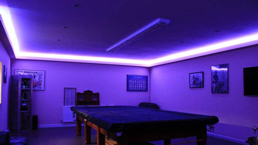 Purple And Black Bedroom Wallpaper Residential Led Lighting Renovated Farmhouse Project