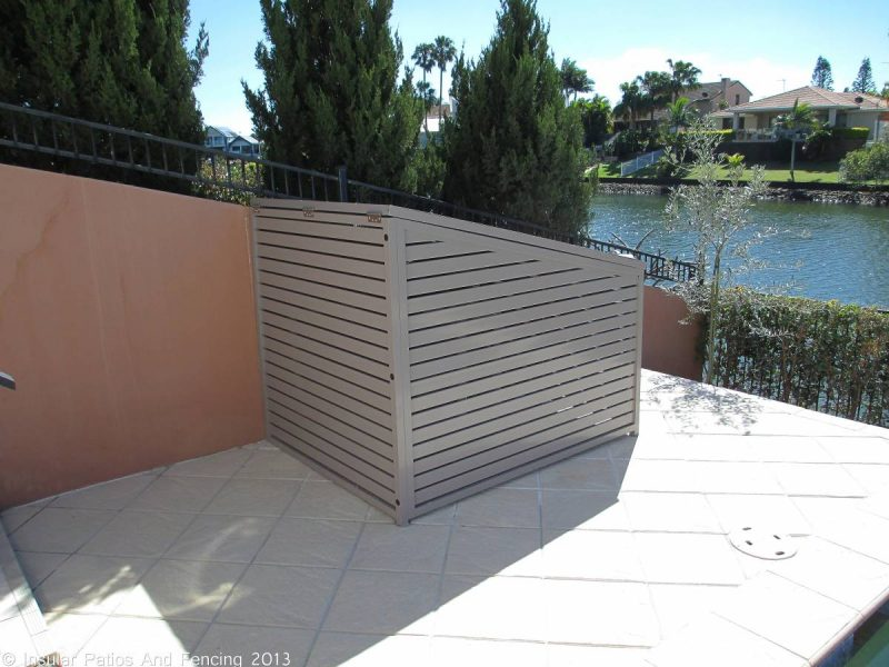 Aluminium Pool Pump And Gas Bottle Enclosure Covers