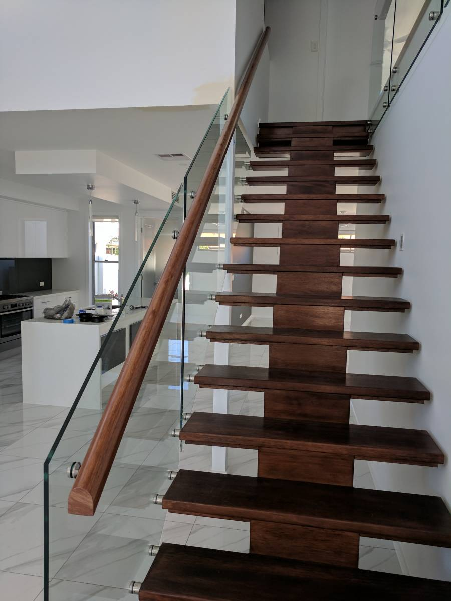 Stair Glass Balustrade Side Mounted Insular Patios