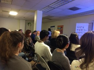 It was a captive audience and a full house during the lightning talks at Hack Mental Health in San Francisco.