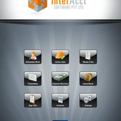 InterAcct Remote Solutions – Main Menu