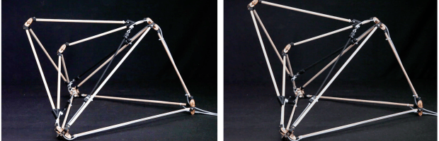 Figure 30. Basic module of Golem Three PAMs control the form of the upper tetrahedron
