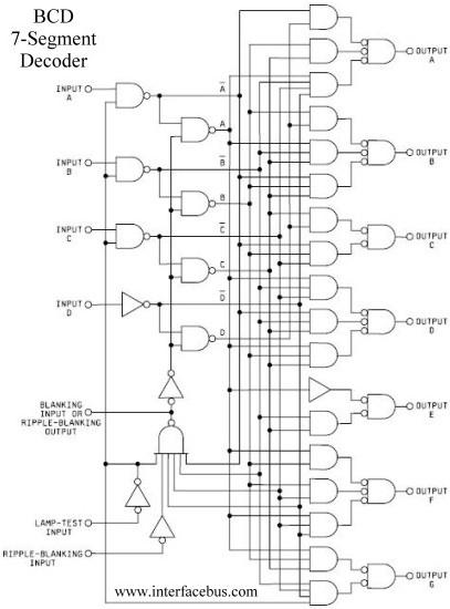 circuit diagram for 7 segment decoder