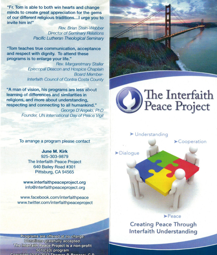 Programs Brochure - religious brochure