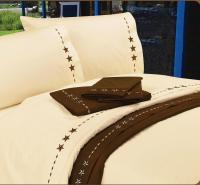 350TC Embroidered Star Bed Sheet Set - InteriorDecorating