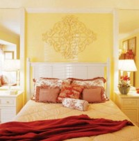 Red, Yellow, White- A vibrant combination for your room ...