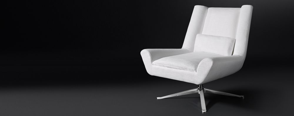 The Look For Less Modern Leather Swivel Chairs