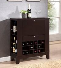 Modesto Brown Modern Dry Bar and Wine Cabinet | Interior ...