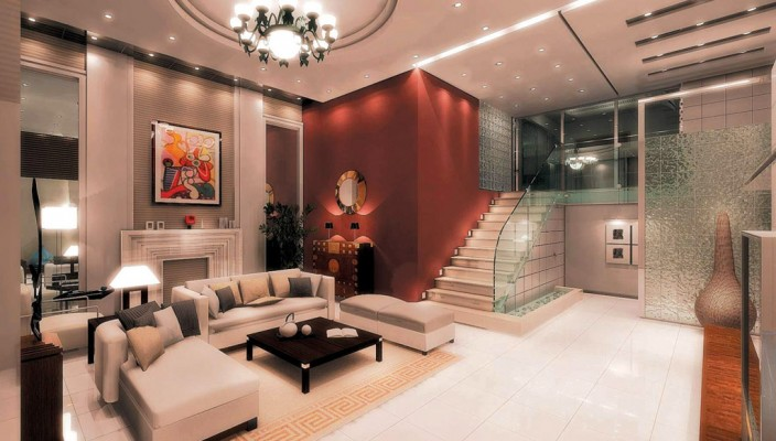 Interior Exterior Plan Living Room Design in Peach - peach living room