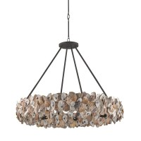 Currey & Company Oyster Circle Chandelier