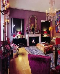 Boho Purple Living Room - Interiors By Color